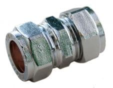 Oracstar Compression Straight Connector - 15mm x 15mm Chrome